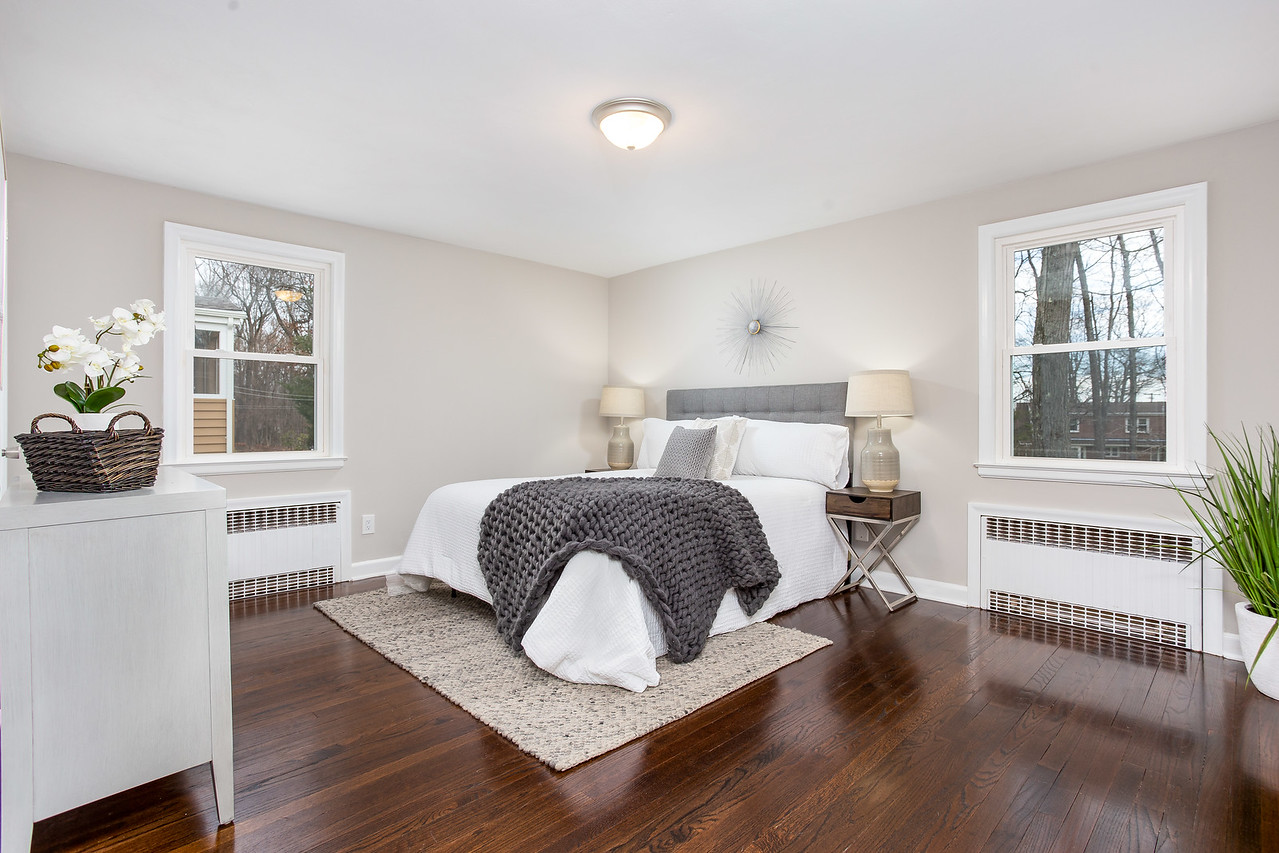 Master bedroom home staging