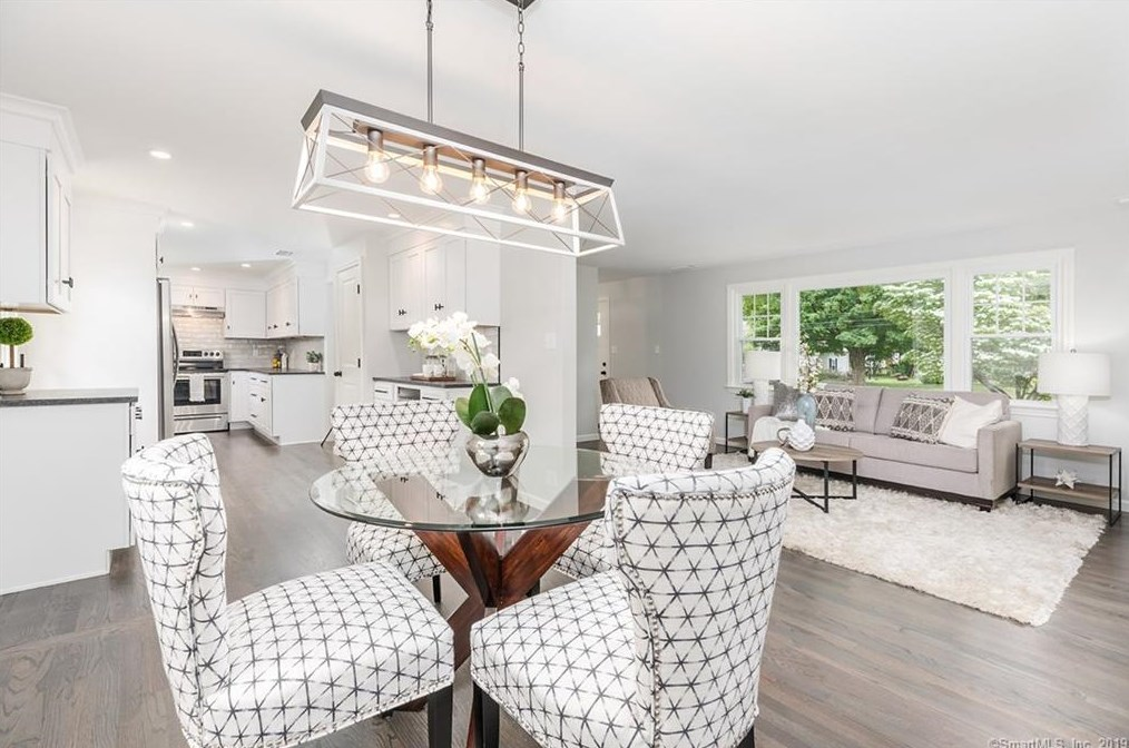 Dining Room and Living Room Home Staging